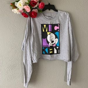 Mickey Mouse Crop Top Sweater Disney
